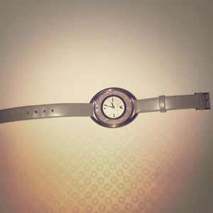 Swarovski Crystalline Oval Rose Gold-Tone Watch